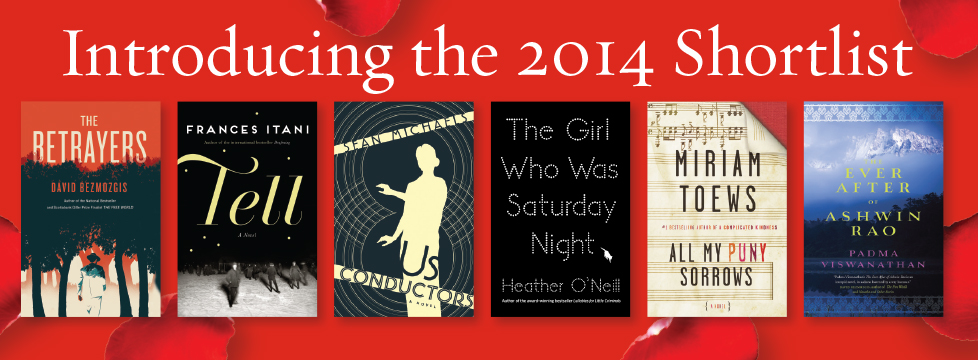 The Scotiabank Giller Prize 2014 Shortlist. (Source: www.scotiabankgillerprize.com)